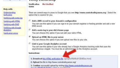 Using Google Webmaster Tools to Verify Your Website and Submit an XML Sitemap