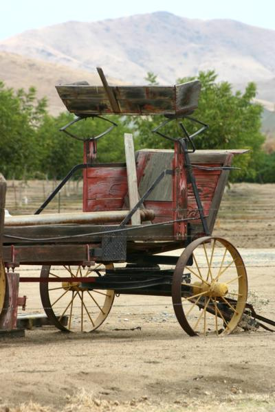 Old wagon on the ranch