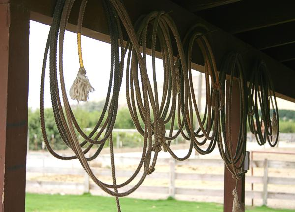 old ropes hanging on the porch
