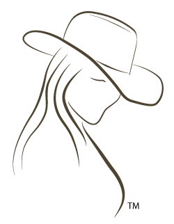 Cowgirl Line Drawing, TSD Logo, Trademarked