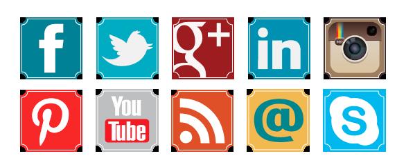 Free Retro Social Media Icons