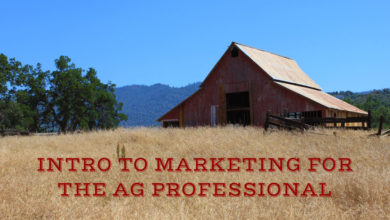 Intro to Marketing for the Ag Professional