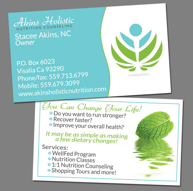 Business cards brochures packaging labels banner ads akins holistic nutrition colourmoves