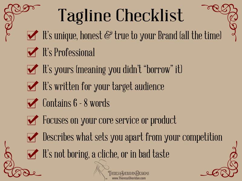 Tagline checklist