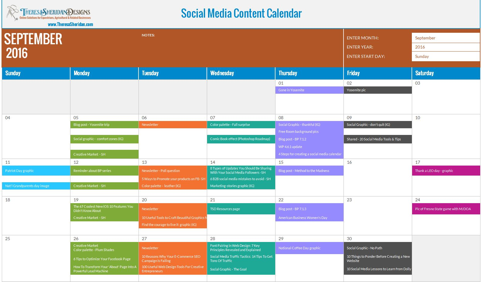 How To Use A Social Media Content Calendar Free Download