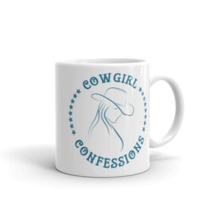 Cowgirl Confessions Mug, Turquoise with Stars