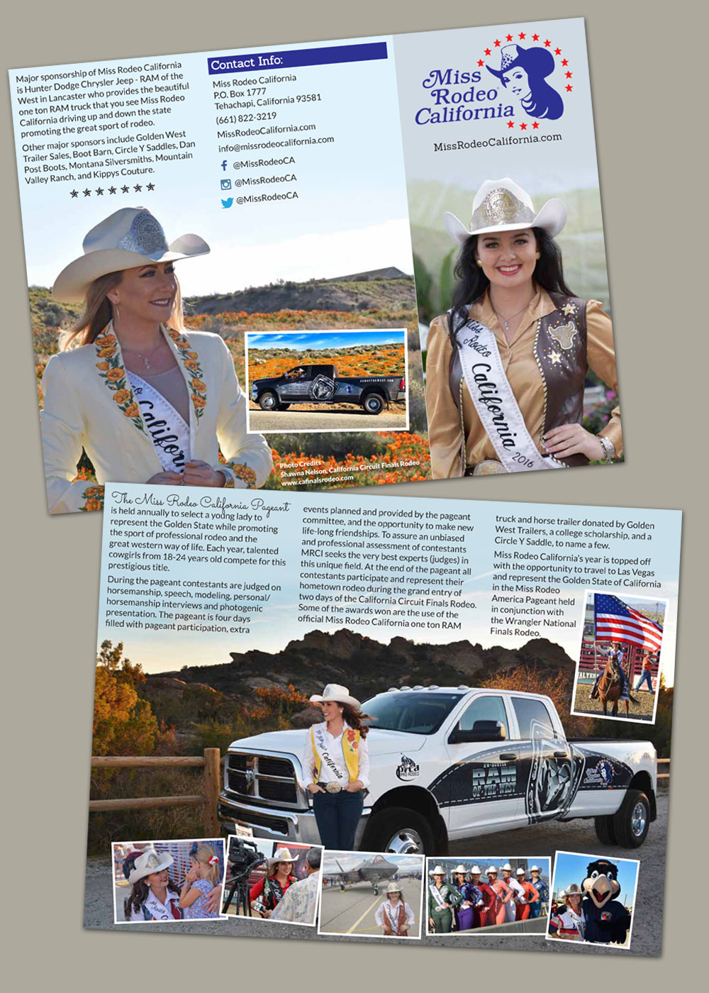 Miss Rodeo California brochure