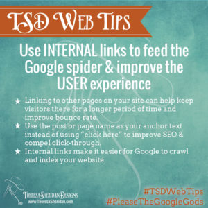 Use internal website links to improve SEO & user experience.