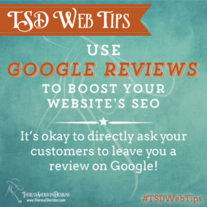 Use Google Reviews to boost your SEO.