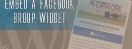 Embed a Facebook Group Widget