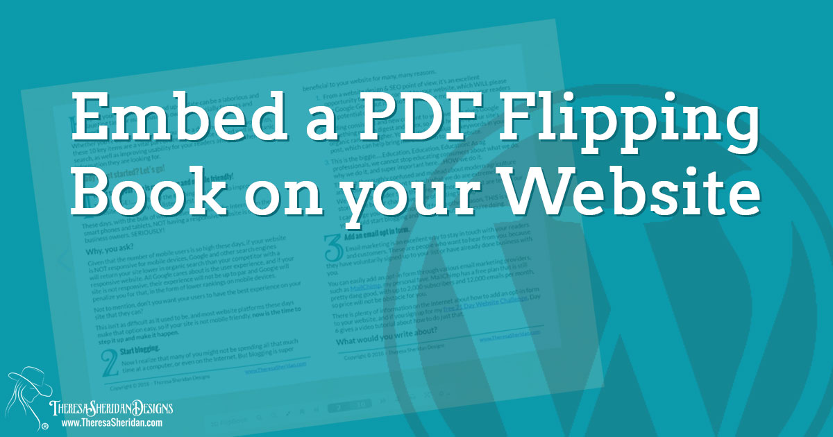 Embed a PDF flipping book