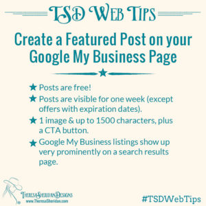 Create a featured post on Google My Business