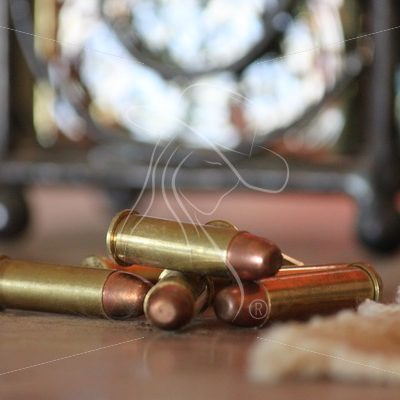 38 ammo sitting on a table - Theresa Sheridan Designs