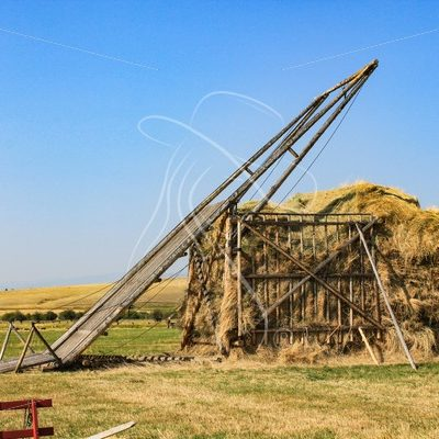Hay derrick at Grant-Kohrs Ranch, Montana - Theresa Sheridan Designs