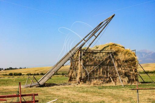 Hay derrick at Grant-Kohrs Ranch, Montana - Theresa Sheridan Designs