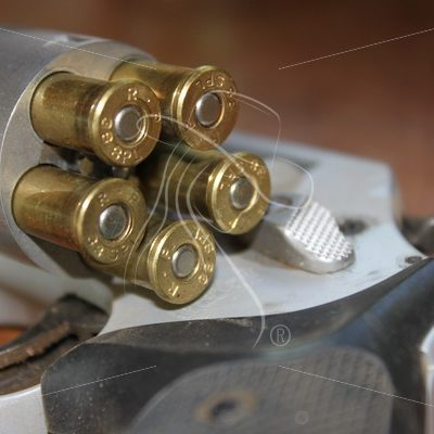 Loaded 38 Special with open cylinder - Theresa Sheridan Designs