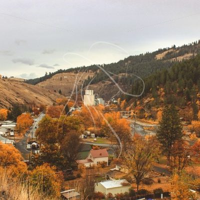 Overlooking Kendrick Idaho on a cloudy day in the fall - Theresa Sheridan Designs