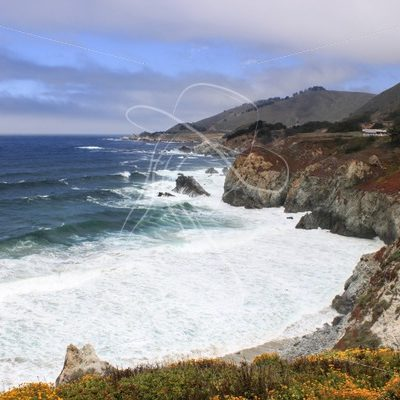 Rugged California coastline - Theresa Sheridan Designs