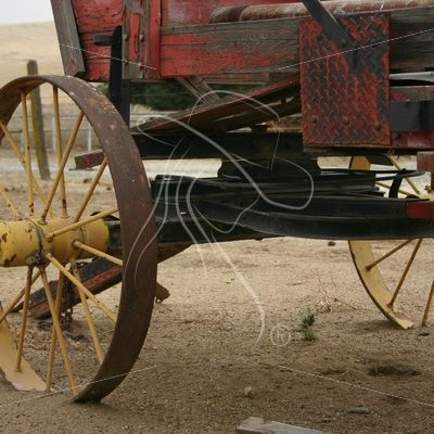 Rustic wooden wagon undercarriage - Theresa Sheridan Designs
