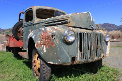 Rusty vintage work truck - Theresa Sheridan Designs