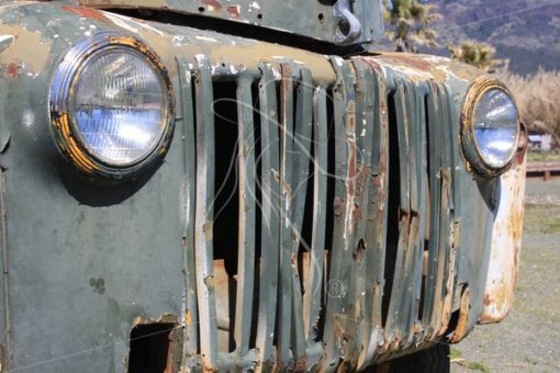 Rusty work truck grill - Theresa Sheridan Designs