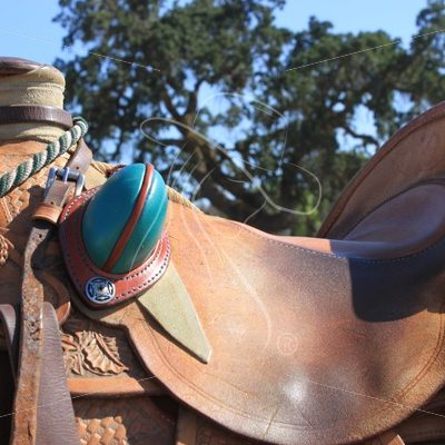 Slick fork saddle with turquoise bucking rolls - Theresa Sheridan Designs