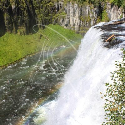 Upper Mesa Falls with rainbow, Idaho - Theresa Sheridan Designs
