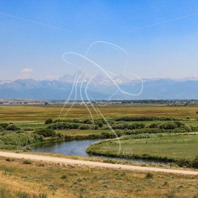 Valley meadows with Grand Tetons in background - Theresa Sheridan Designs