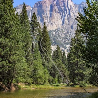 Yosemite Falls and the Merced River - Theresa Sheridan Designs