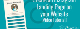 Create an Instagram Landing Page on your Website [Video Tutorial]