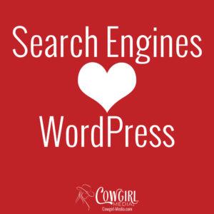 search engines love wordpress