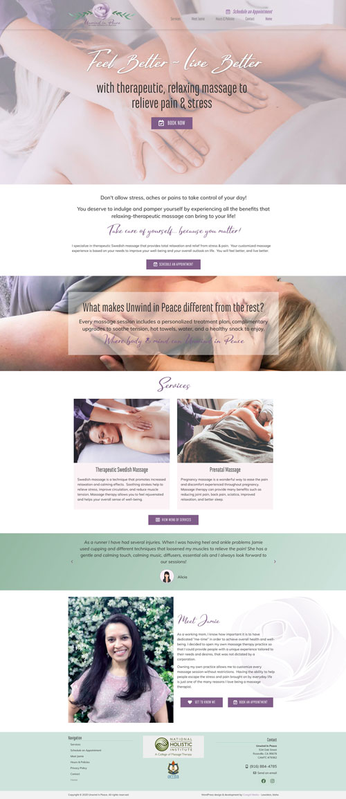 Unwind in Peace Massage Therapy